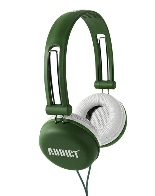 Casque audio Addict Uprock green / white