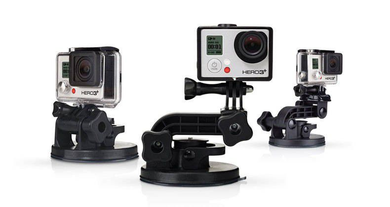 Ventouse Gopro Suction Cup Mount + Quick Release